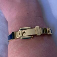 Michael Kors Buckle Gold Tone and Blue Bangle Bracelet.