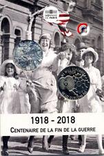75006 Cartelette Centenaire de l'Armistice, 2018, Monnaie de Paris