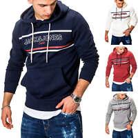 Jack & Jones Herren Hoodie Kapuzenpullover Sweatshirt Pullover Print Casual