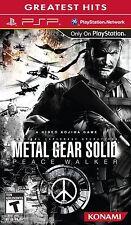 Metal Gear Solid Peace Walker (Sony PSP, 2010) BRAND NEW SEALED Konami Kojima
