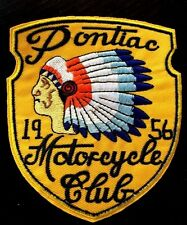 VINTAGE STYLE 1956  RETRO  MOTORCYCLE CLUB INDIAN CHIEF HOT ROD BIKER PATCH