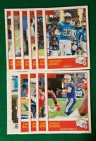 2019 Score Los Angeles Chargers, Philip Rivers, Derwin James 11 Cards 1 RC