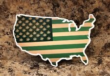 USA Map Weed Marijuana Cannabis Decal Sticker Skateboarding Pot 420 Smoke High