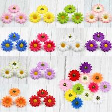 15Pcs Artificial Daisy Gerbera Silk Fake Flower Heads Wedding Party Decor 40mm