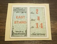 1901 Harvard Yale College Football Game National Championship Ticket Stub Rare