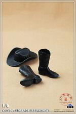 1/6 Male Cowboy Hat & Cowboy Boots Cap Shoes Update Ver. F 12'' Action Figure