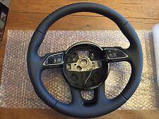 Audi Leather 3-Spoke Steering Wheel Highline Multifunction Paddles