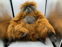 Large K&M International Orangutan Orange Monkey Plush Soft Stuffed Toy Animal