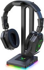 Blade Hawks RGB Gaming Headphone Stand W/  3.5mm AUX and 2 USB Ports (HS18) NEW