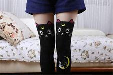 Sailor Moon Cosplay 20th Anniversary Cat Luna Pantyhose Tight Stockings Black