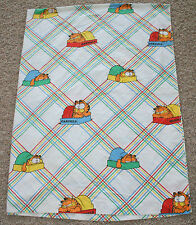 Vintage 1978 Garfield Twin Size Flat White Kid's Children's Bed Sheet Jim Davis