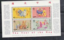 China Hong Kong 1994 Year of the Dog Souvenir Sheet ,Mint -Z