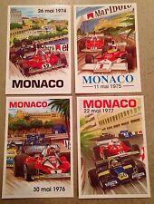 Monaco Grand Prix Postcard Set#8 To Find! 1st On eBay Car Poster. Own It!