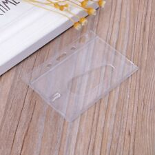 Hard Plastic Bank Card Case Badge Holder Clear Protector ID Cover Horizontal