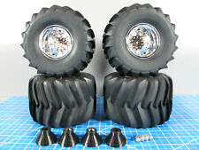 New Tamiya TXT-1 Rims Wheel with RC4WD B&H Monster Clodbuster Tire +CPE Widener