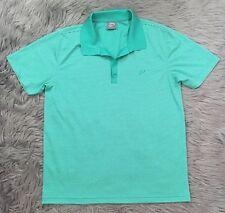 IJP Designs Ian Poulter Golf Polo Shirt Mint Green White Stripe Mens Sz M