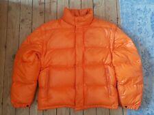 Rare Vintage Moncler Grenoble Shiny Orange Down Puffer Jacket Coat Size 1