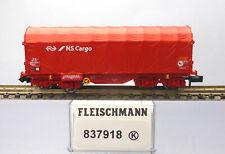 Fleischmann N 837918; Schiebeplanenwagen Shimmns NS, unbespielt in OVP /J799