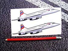 CONCORDE STICKERS BRITISH AIRWAYS AVIATION AEROPLANE AIRLINER SUPERSONIC