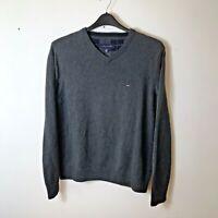 Tommy Hilfiger Men's 100% Cotton Jumper Sweater Size: Medium Colour: Grey - 2012