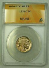 1936-D Buffalo Nickel 5c ANACS MS-65 (N) (WW)