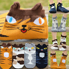 1Paar Damen Katze Tiere-Muster Sock Sneaker Socken Baumwollsocken Freizeitsocken