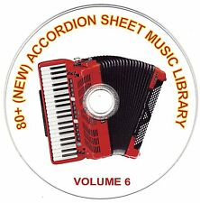 80+ SONGS! - HUGE VINTAGE ACCORDION SHEET MUSIC COLLECTION! - CD#6 of 10