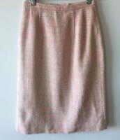 Pendleton Tweed Silk Skirt Lined Pink Multi Colored Women's Size 4 NWOT