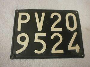 ITALY PAVIA VINTAGE 1960s REAR # PV 209524 RARE LICENSE PLATE