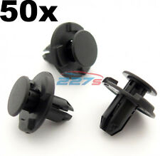 50x 8mm Hole, Wheel Arch Liner Clips, Plastic Trim Clips for Inner Wing- Subaru