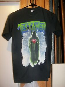 Vintage 90s 1990 Testament Souls of Black Album List Shirt Metal Medium Original