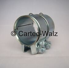 Connecteur de tuyau d'échappement / Collier double 50 x 80 mm pour BMW, FIAT ,