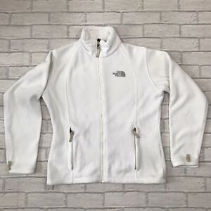 The North Face Women's White Fleece Size L 14/16 Walking Hiking Casual Camping