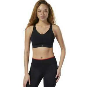 NWT REEBOK Puremove Sports Bra Breathable CY5012 Small/Medium $60 BLACK