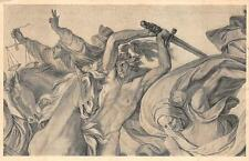 HORSES SCALES OF JUSTICE SOLDIER SWORDS GERMANY MILITARY POSTCARD (c. 1915) (72)