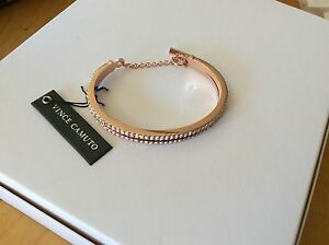 $58 Vince Camuto Rose Gold Two Layer Bangle Bracelet V12
