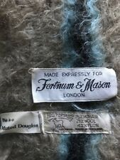 EUC Fortnum & Manson London Blanket Mohair Wool Scotland Hilltop Muted Douglas