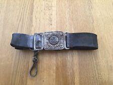 Vintage Girl Guides Association Leather Belt With Metal Buckle