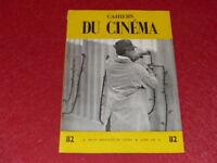 [REVUE LES CAHIERS DU CINEMA] N°82 # AVR 1958 JACQUES TATI Aldrich EO 1rst