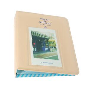 Fuji Instax Photo Album-Mini 9 8 8+ 70 90 7s 25 26 50s/Pringo 231/Polaroid-Cream