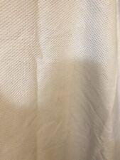 Restoration Hardware Pure White Diamond Matelasse' 100% Cotton Shower Curtain