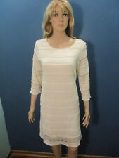 XXL / 16 ivory stretchy lined lace style dress by OLD NAVY