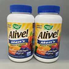 Nature's Way Alive! Men's Multi-Vitamin, 200 Tablets 2PK Exp 10/20+