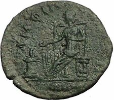 ELAGABALUS 218AD Amphipolis Macedonia Tyche Authentic Ancient Roman Coin i55758