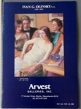 1985 Ivan Olinsky Art Exhibition Catalog Arvest Galleries Boston MA Portraits