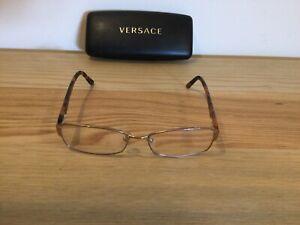 Ladies Versace Tortoise Shell Rectangular Glasses MOD 1177: 1052 54 16 135 T817