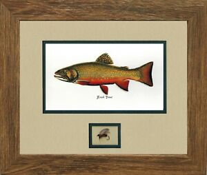 3  Trout Prints by Joseph Tomelleri with fly