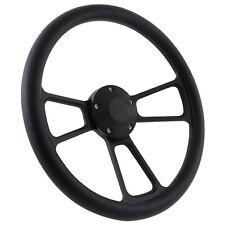"EZ-GO RZR TXT 14"" Black Steering Wheel w Horn & Adapter Polaris Ranger"