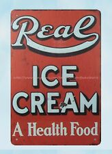 prints for sale online Real ICE CREAM Health Food metal tin sign