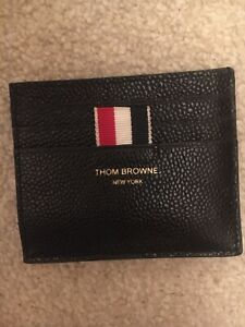 THOM BROWNE double-sided cardholder with note compartment Brand New 100%auth